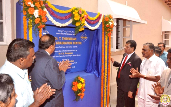 INAUGURATION OF POST GRADUATION CENTRE