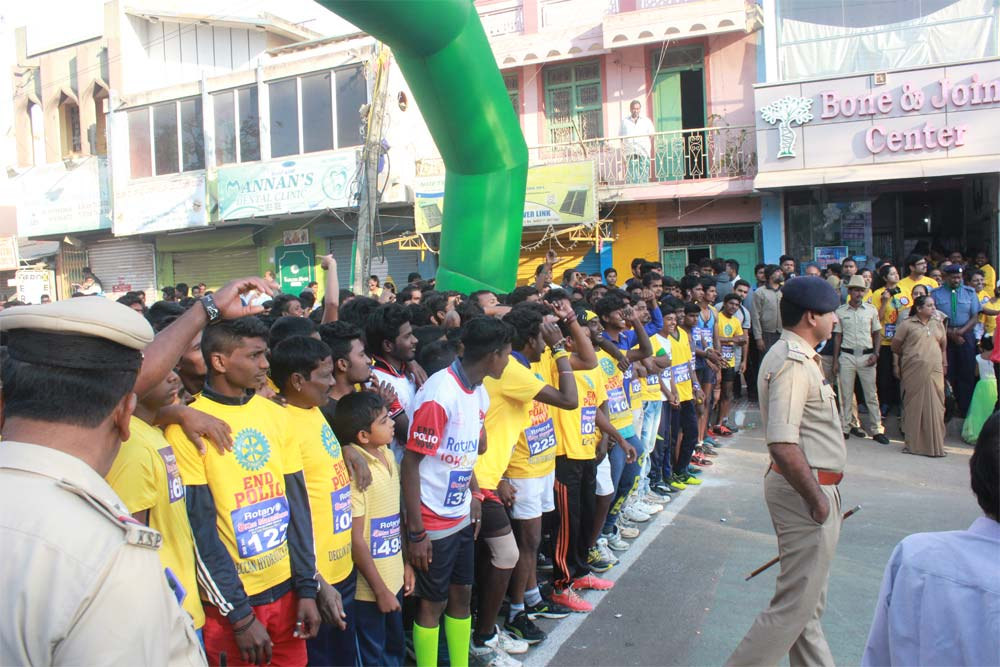 MARATHON FOR AWARNESS ON POLIO